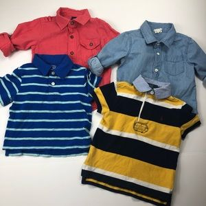 Toddler boys dress shirt bundle size 2T polo gap